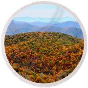 Autumn Display Round Beach Towel