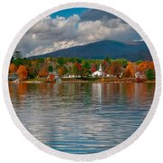 Autumn In Melvin Village Round Beach Towel