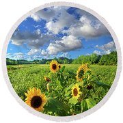 Autumn Is Near Round Beach Towel