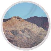 Round Beach Towel featuring the photograph Avawatz Mountain by Jim Thompson