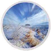 Round Beach Towel featuring the photograph Azure by Phil Koch