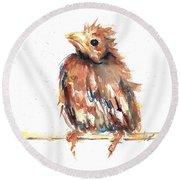 Baby Cardinal - New Beginnings Round Beach Towel
