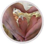 Baby Toes Round Beach Towel