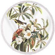 Bachman's Warbler  Round Beach Towel