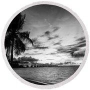 Bahia Honda State Park Sunset Round Beach Towel