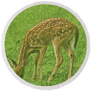 Bambi Round Beach Towel by Rick Friedle