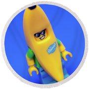 Banana Man Round Beach Towel