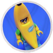 Banana Man Round Beach Towel by Samuel Whitton