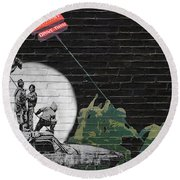Banksy - The Tribute - New World Order Round Beach Towel