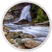 Baring Falls Round Beach Towel by Jack Bell