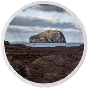 Bass Rock Round Beach Towel