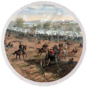 Battle Of Gettysburg Round Beach Towel