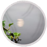 Round Beach Towel featuring the photograph Bayou Moon by John Glass