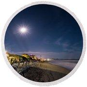 Beach At Night - Spiaggia Di Notte Round Beach Towel