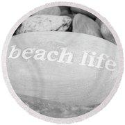 Beach Life Round Beach Towel