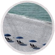 Beach Therapy 1 Round Beach Towel