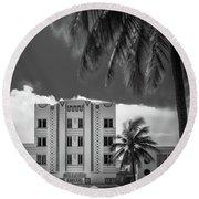 Beacon Hotel Miami Round Beach Towel