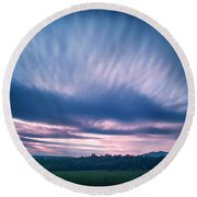 Beautiful Sky Round Beach Towel