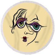 Beauty In Imperfection Round Beach Towel by Tanielle Childers