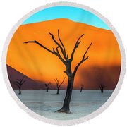 Beauty Lives Forever. Round Beach Towel
