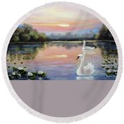 Beauty Round Beach Towel by Vesna Martinjak