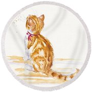 Bee Entranced Round Beach Towel
