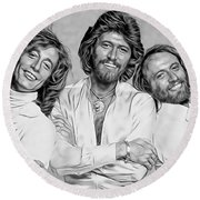 Bee Gees Collection Round Beach Towel