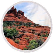 Round Beach Towel featuring the photograph Bell Rock by Kristin Elmquist