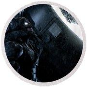 Ben Affleck As Batman Round Beach Towel