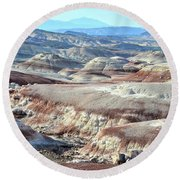 Bentonite Clay Dunes In Cathedral Valley Round Beach Towel