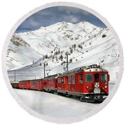 Bernina Winter Express Round Beach Towel