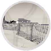 Round Beach Towel featuring the photograph Beyond The Dunes by Colleen Kammerer
