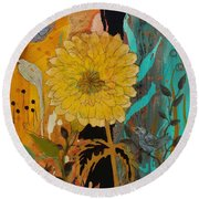 Big Yella Round Beach Towel