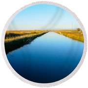 Biggs Canal Round Beach Towel
