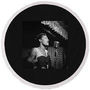 Billie Holiday William Gottlieb Photo New York City 1947 Round Beach Towel