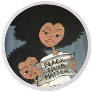 Black Lives Matter Round Beach Towel