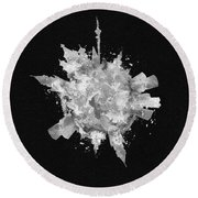 Black Skyround Art Of Moscow, Russia Round Beach Towel