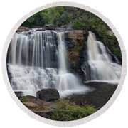 Blackwater Falls Round Beach Towel
