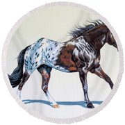 Blanketed Appaloosa Round Beach Towel by Cheryl Poland