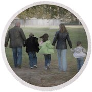 Blended Family Round Beach Towel