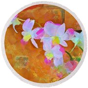 Round Beach Towel featuring the painting Bloom by Wayne Pascall