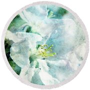 Blooming Round Beach Towel