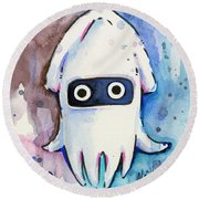 Blooper Watercolor Round Beach Towel