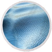 Round Beach Towel featuring the photograph Blue On Blue by Karen Wiles