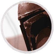 Round Beach Towel featuring the photograph Boba Fett Helmet 32 by Micah May