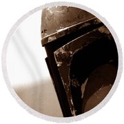 Round Beach Towel featuring the photograph Boba Fett Helmet 33 by Micah May