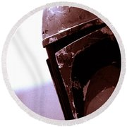 Round Beach Towel featuring the photograph Boba Fett Helmet 34 by Micah May