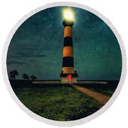 Bodie Island Night Round Beach Towel