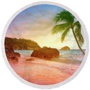 Boracay Philippians Round Beach Towel