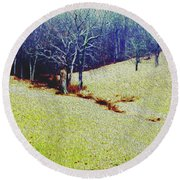 Round Beach Towel featuring the photograph Brandywine Landscape by Sandy Moulder